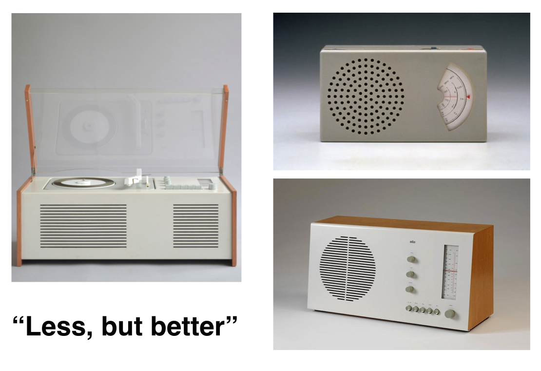 "Braun product design principle: ""Less, but better"""